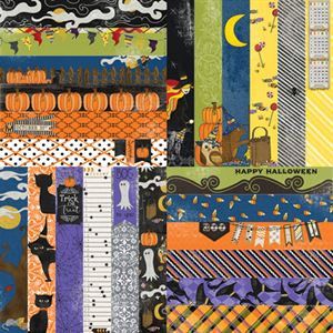 """Picture of Frightful & Furry by Lauren Hinds 2"""" Border Strips: Frightful Halloween- Set 12"""